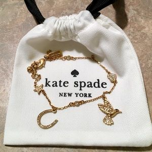 NWOT Kate Spade Crystal Bird Heart Star Bracelet